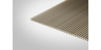 Сотовый поликарбонат Полигаль 8,0 мм 2100x9000 м бронзовый 42% ГОСТ